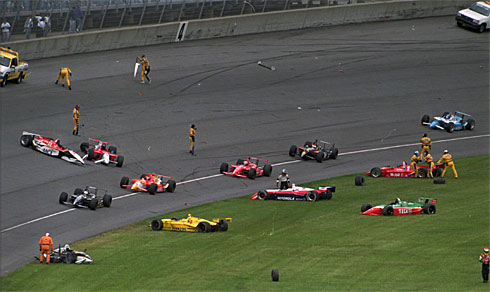 1992 indy 500 crash on the warm up lap best racing accidents ever. Black Bedroom Furniture Sets. Home Design Ideas